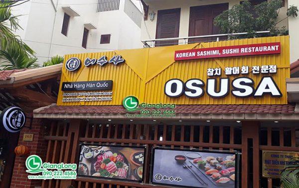 Biển quảng cáo nhà hàng đẹp