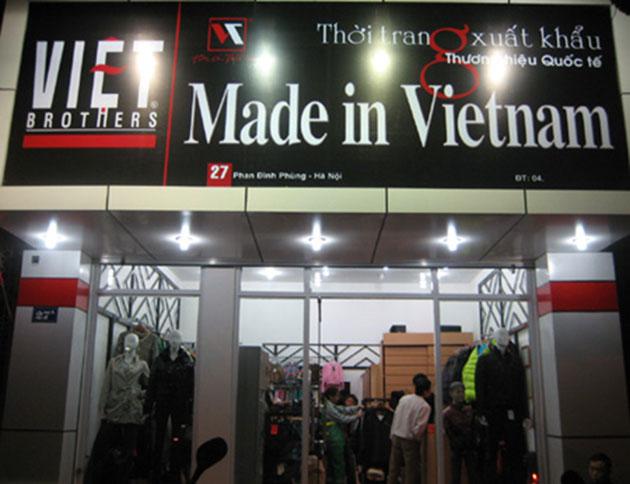 Biển quảng cáo thời trang made in việt nam